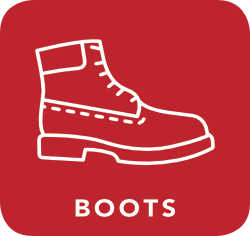 icon of boots which are acceptable for recycling
