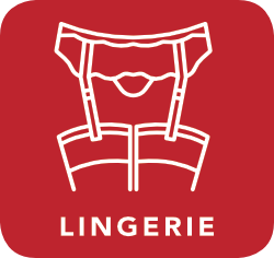 icon of lingerie which is acceptable for recycling